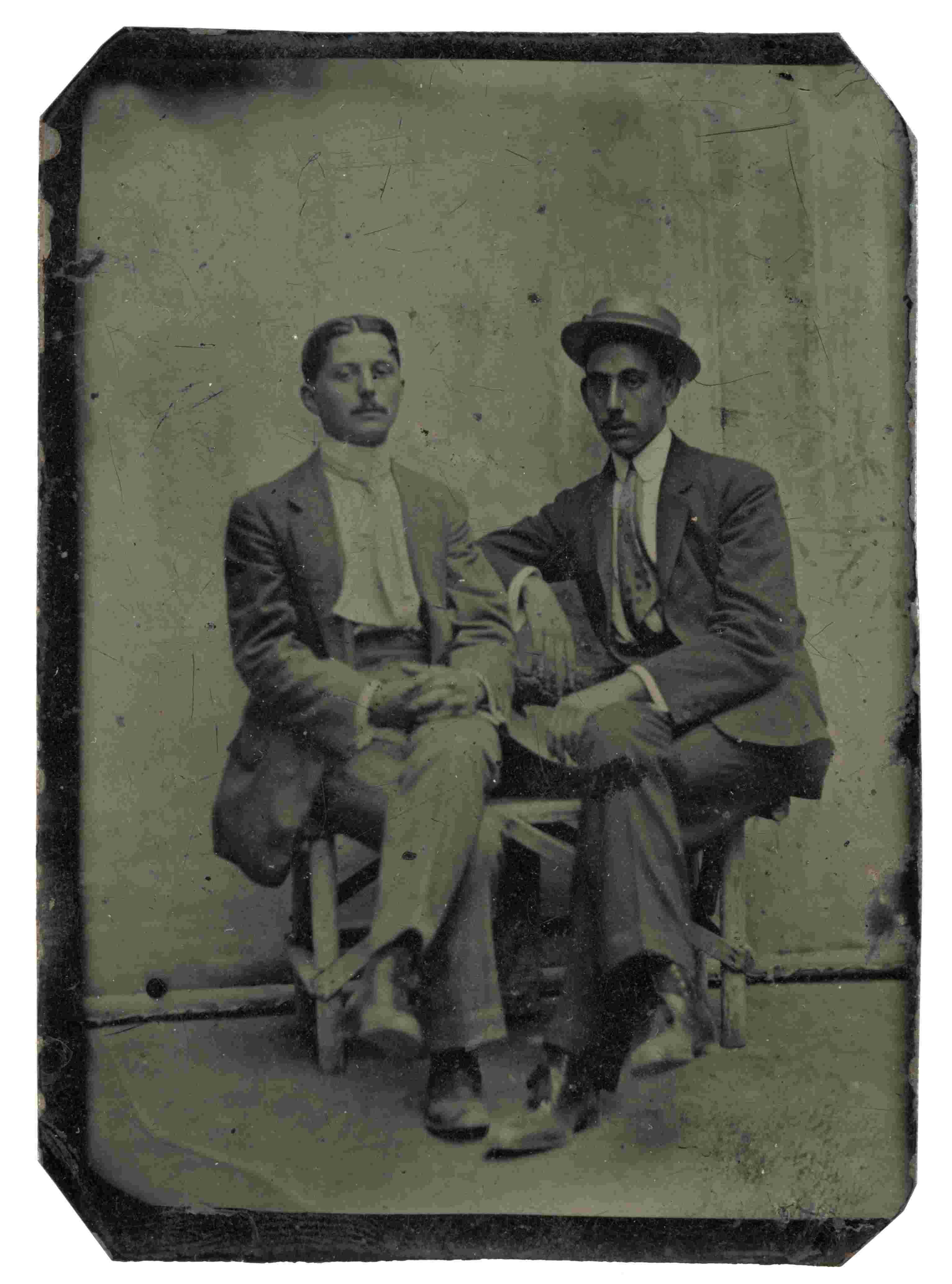 José María Mascort Galibern junto a un amigo