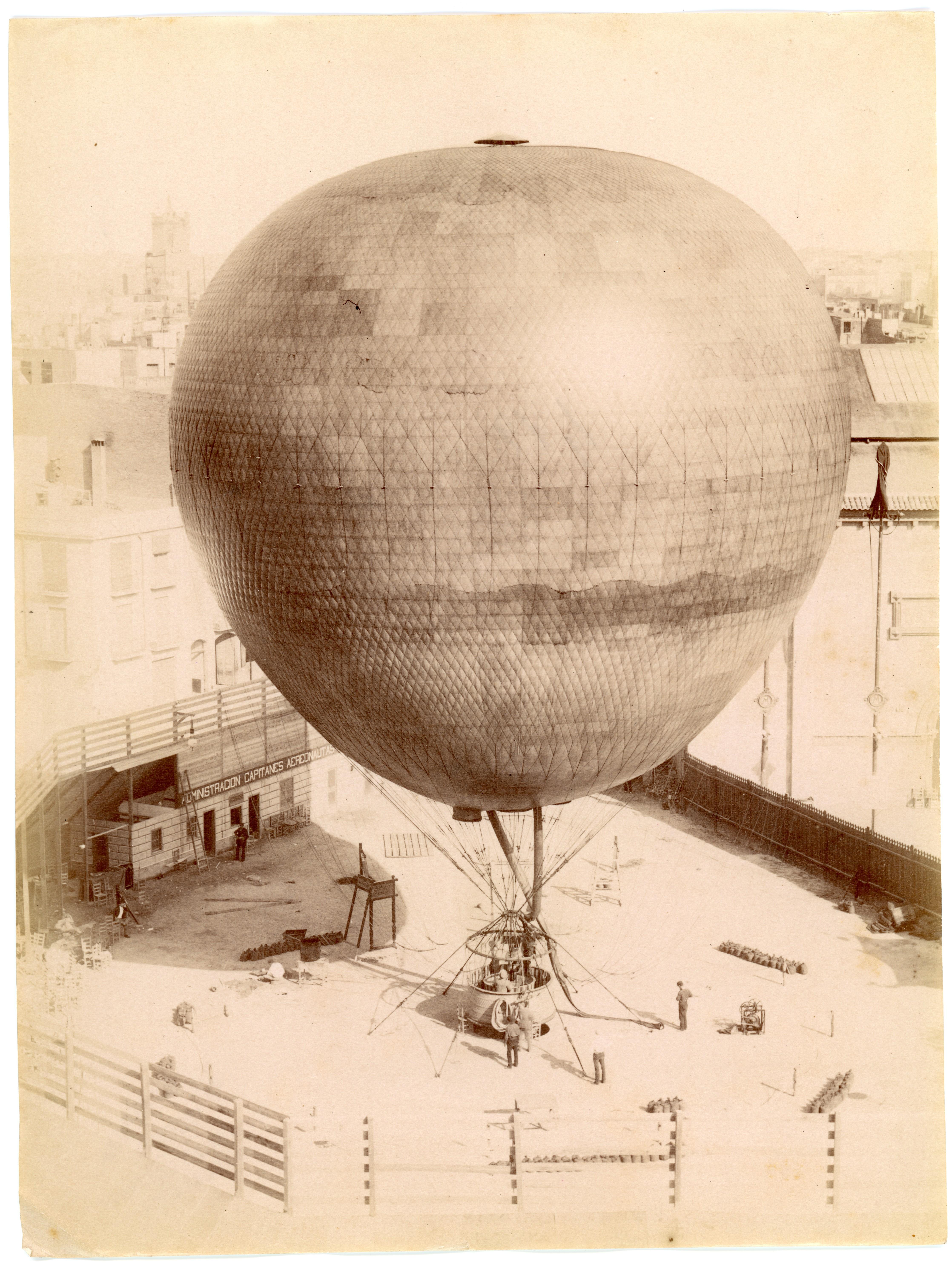 Plano general del globo El Cautivo de la Exposición Universal de 1888